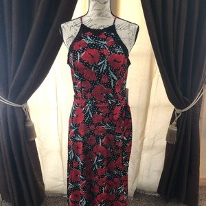 😍 Beautiful floral red maxi dress 👗PREMIER AMOUR